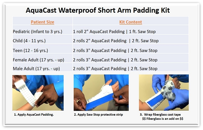 aquacast size info waterproof cast how to