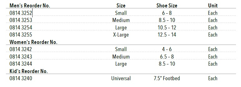 DLX Post op 2 bird cronin shoe size info