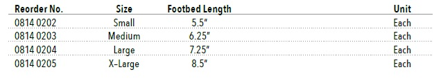 pediatric cam walker boot size chart