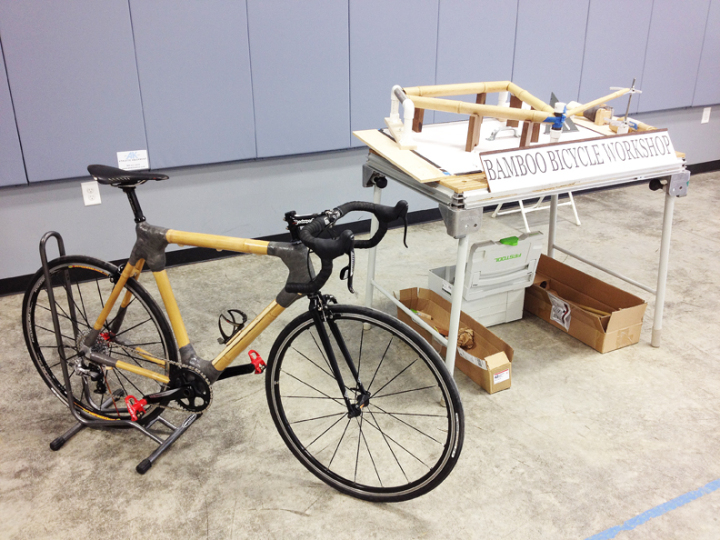 bike frame made from fiberglass cast tape