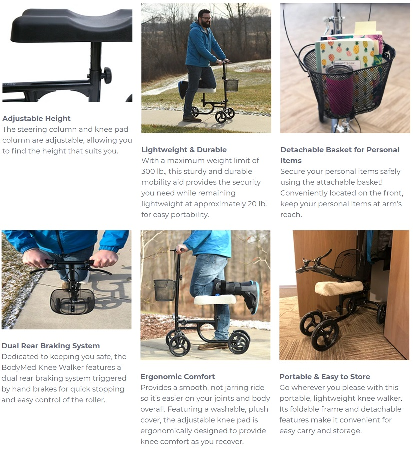 Economy Knee Scooter Features