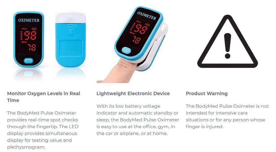 Pulse Oximeter Features