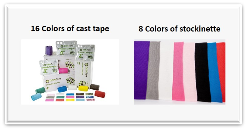 fiberglass cast tape color stockinette