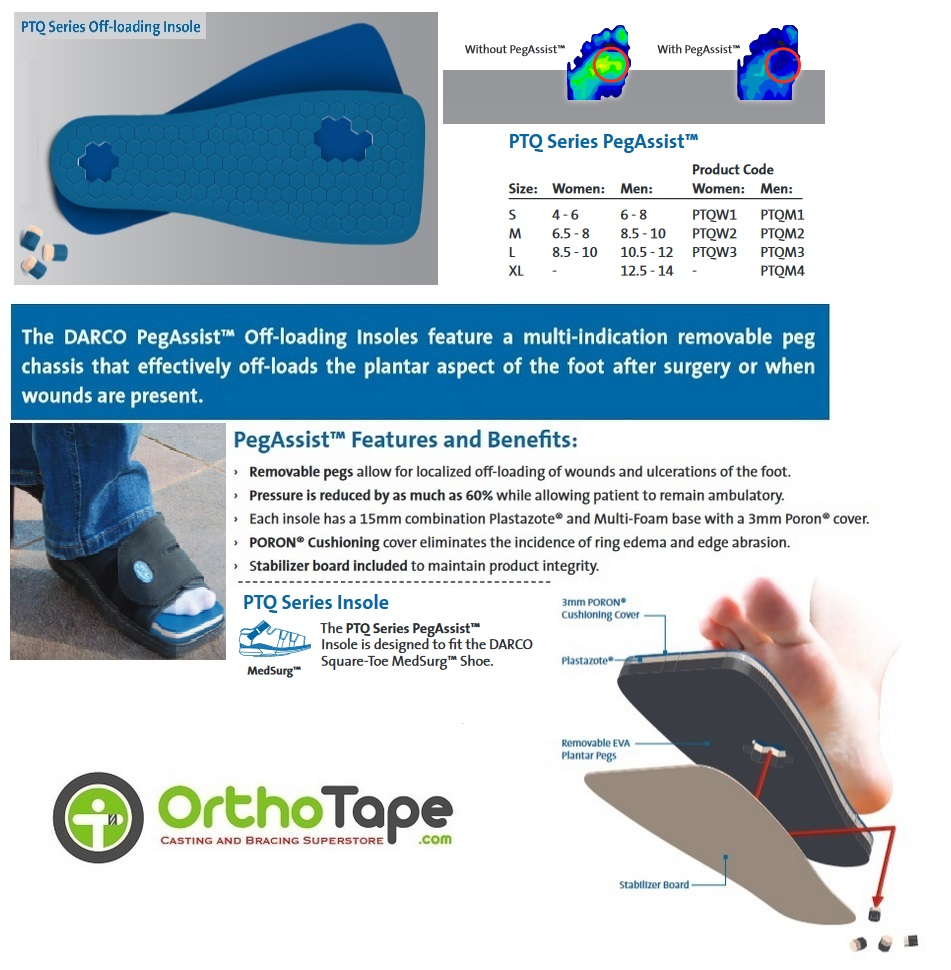 how peg assist works in darco shoes