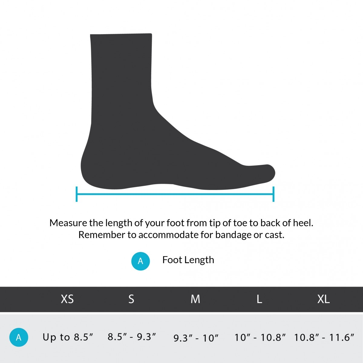 orthowedge size how to measure