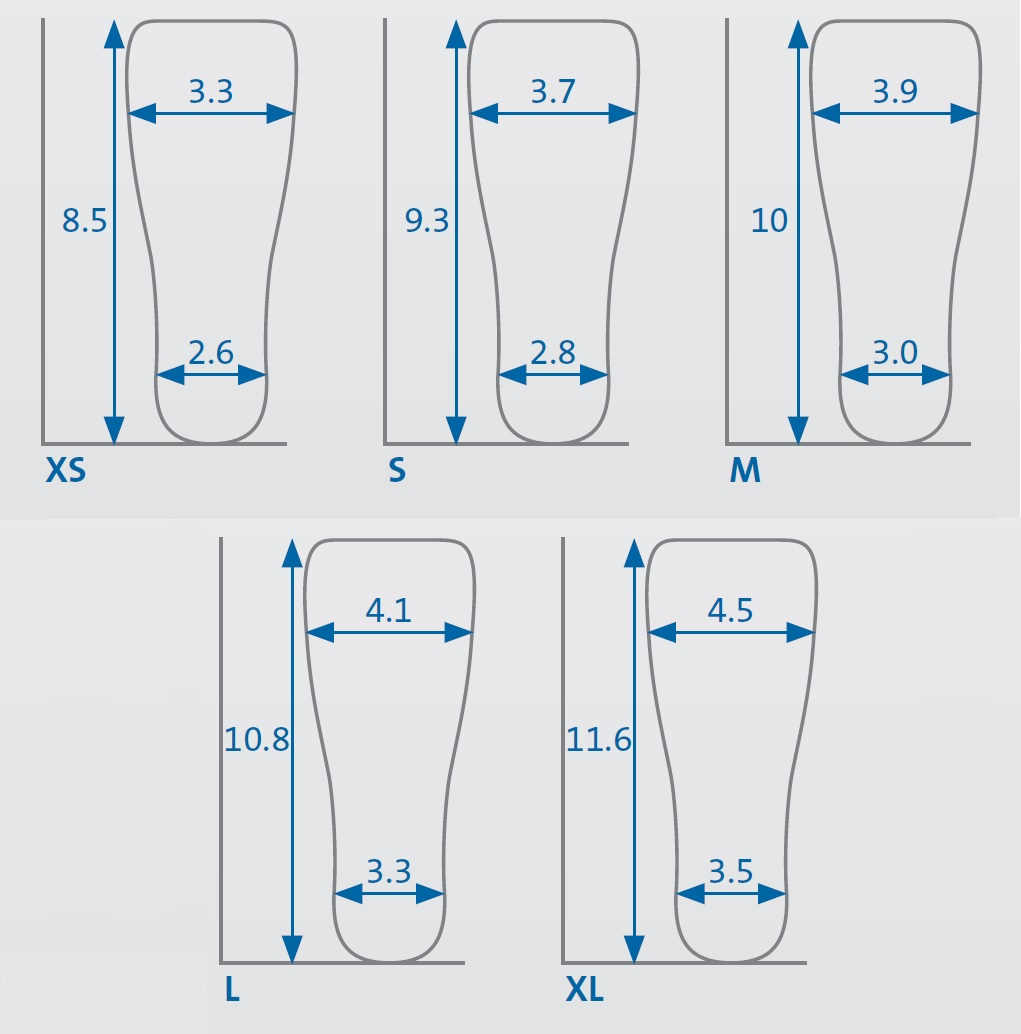 darco surgery boot size chart