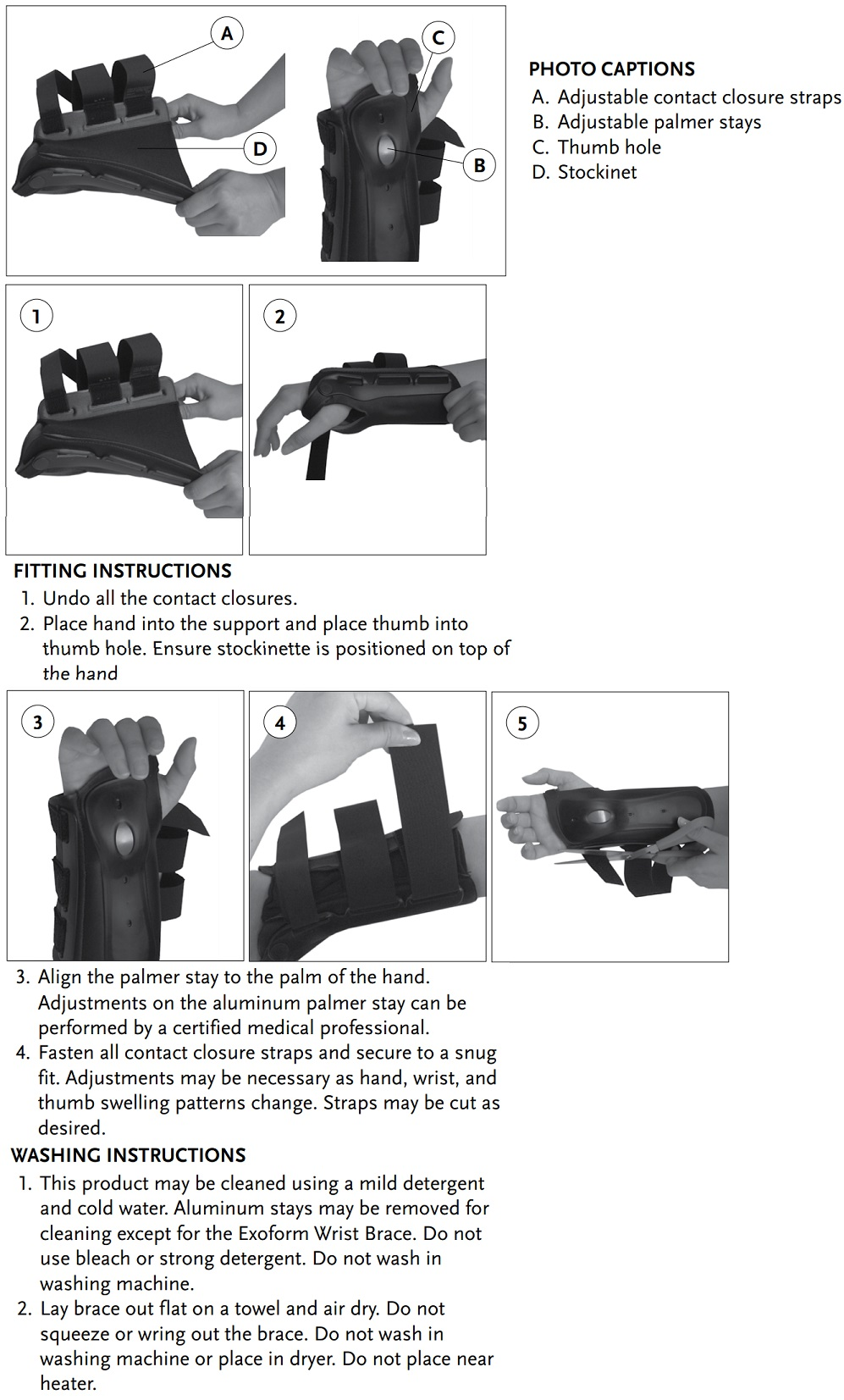 Exoform Wrist instructions