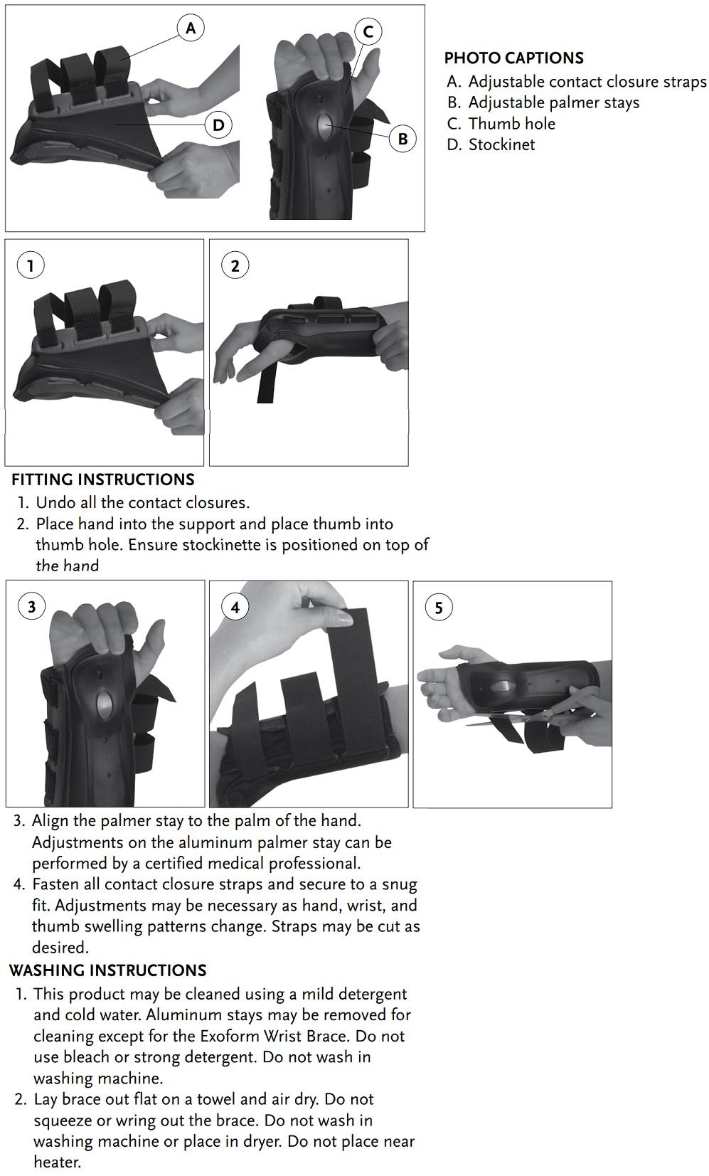 Exoform Wrist instructions
