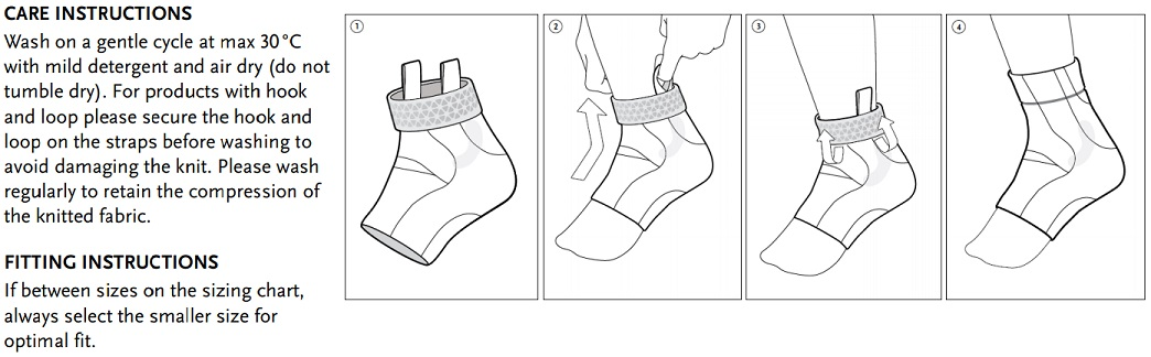 Formfit Pro Ankle instructions