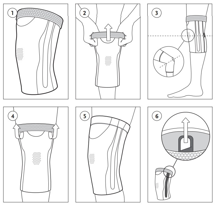 Formfit Pro Flite Knee Sleeve instructions