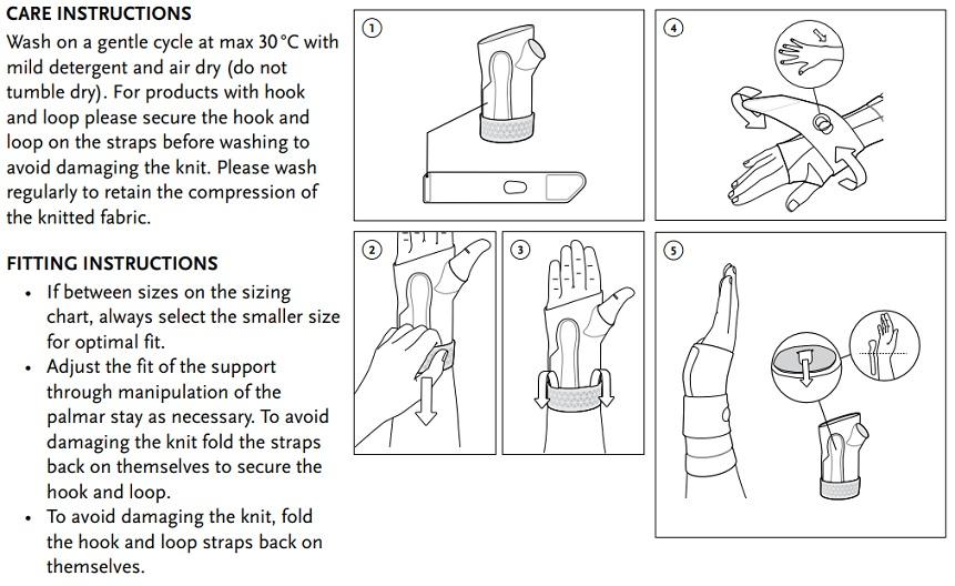 Formfit Pro Wrist imstructions