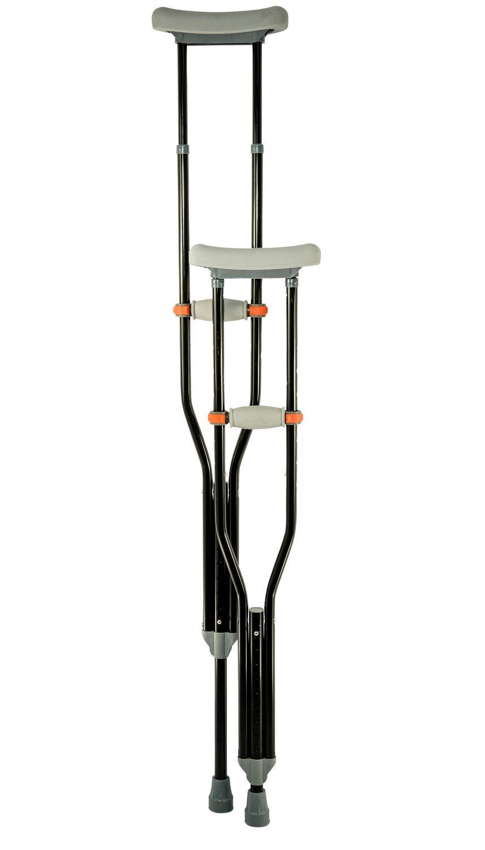black crutches