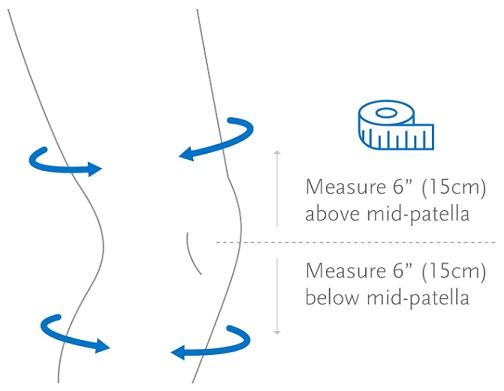 Formfit Pro Flite Knee Sleeve size chart-2