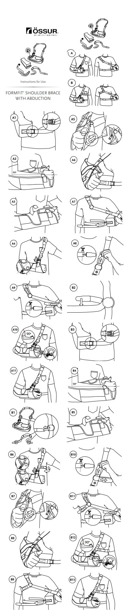 formfit shoulder brace with abduction instructions
