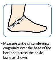 how to measure for ankle brace support