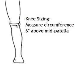 Warrior Knee Brace measure