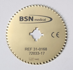 BSN Medical Titanium Nitride Gold Cast Saw Cutter Blade