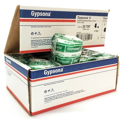 Gypsona S Plaster of Paris Bandages 4 In x 5 Yrd - 12 Rolls