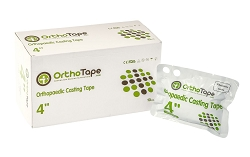 OrthoTape Fiberglass Cast Tape 4 INCH Box (10 ROLLS)