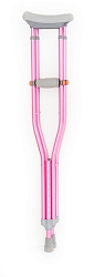 Fuchsia Pink Crutches | OrthoTape Color Underarm Crutches (pair)