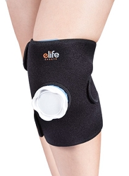 eLife Knee Ice Pack Cold Therapy Compression Wrap | Reusable Ice Bag Pack Wrap Pain Relief