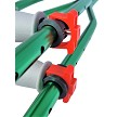 Easy quick adjust clips, Kryptonite Green Crutch Shown.